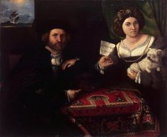 Portrait of a Married Couple - Lorenzo Lotto. 96 x 116 cm. The State Hermitage Museum, St. Mode Renaissance, Renaissance Fashion, Italian Renaissance, Tudor Fashion, 1500s Fashion, Late Middle Ages, Hermitage Museum, Free Art Prints, Italian Painters