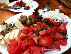 A typical Maltese platter. This one is from Ta' Rikardu in Victoria, Gozo #Malta  We'll be eating here for sure!!