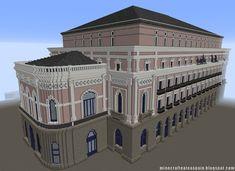 ¡MINECRAFTEATE!: Réplica Minecraft del Teatro Principal de Burgos, España.