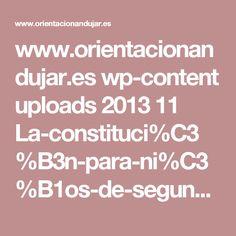 www.orientacionandujar.es wp-content uploads 2013 11 La-constituci%C3%B3n-para-ni%C3%B1os-de-segundo-y-tercer-ciclo-de-primaria-presentacion.pps