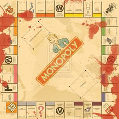 Fallout 3 Monopoly Board by ~swanboy on deviantART