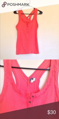 ❤️Free People Orange Tank❤️ Excellent condition. Size small. No rips, stains or tears. Free People Tops Tank Tops