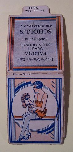Vintage Paper Advertising Paloma Quality Silk Stockings, needle and thread case    Needle and thread case