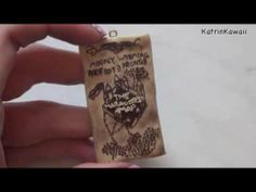 ❀♡Polymer Clay Marauder's Map Tutorial - Harry Potter