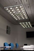 Linear suspended LED light fixture