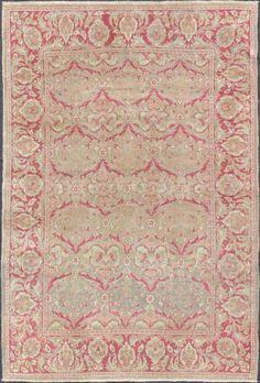 """KEIVAN WOVEN ARTS,   Type :Oushak Origin :Turkey  Size : 5'0""""x7'7""""  Circa :1930"""