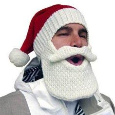 santa beard hat