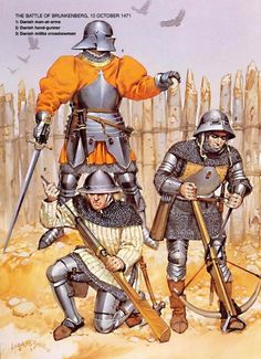 Moyen-âge. Illustration d'Angus Mc Bride.