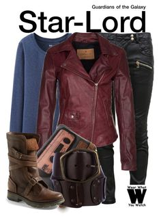 """""""Guardians of the Galaxy"""" by wearwhatyouwatch ❤ liked on Polyvore featuring Uniqlo, Balmain, Goosecraft, Dolce&Gabbana, Steve Madden, wearwhatyouwatch and film"""