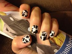 Cow Print Jamberry Nail Wraps  #countrygirlnails #JamberryNails #NailArt