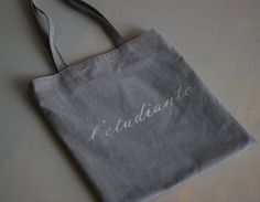 Made-To-Order. Stencil Oxford Fabric Bag. by anotherglow on Etsy