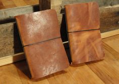 Simple 35x55 Leather Notebook Cover  Tawny VegTan by DavisLeather, $15.00