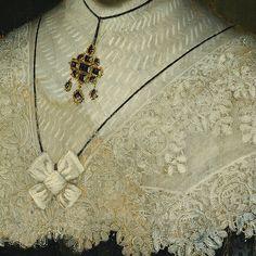 in-detail:  Cornelis Janssens van Ceulen, Portrait of Lady (detail)