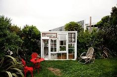 Great idea for a garden glass house!