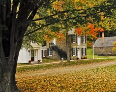 Farmer's Museum In The fall  Cooperstown, NY.  Cooperstown has many museums besides the Baseball Hall of Fame!  ~Klasko