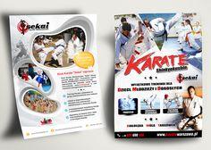 """Koncepcja graficzna kampanii reklamowej Klubu Karate """"Sekai"""" - Warszawa - ulotka A6 - dwustronna"""
