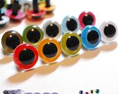 15mm Plastic eyes Safety eyes 10 pairs Mixed Colors (15M10), best source on the internet for safety eyes - 6060# on etsy.com