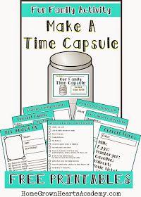 Home Grown Hearts Academy Homeschool Blog: Make A Time Capsule