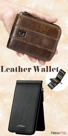 The Last Wallet You'll Ever Need. Business Casual Leather Card Pack Wallet For Men. #men #wallet #mensfashion