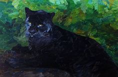 Buy Black Panther - oil painting, Oil painting by Lia Aminov on Artfinder. Discover thousands of other original paintings, prints, sculptures and photography from independent artists.