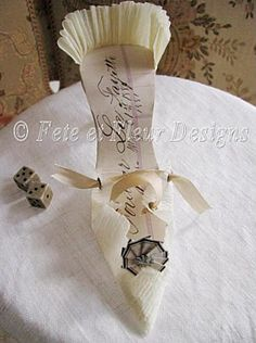 Paper shoe Another idea pinned by Bella Sera WenatcheeWeddings.com