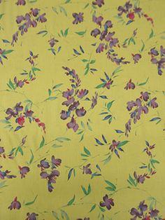 New Arrival! Pastel Yellow/Jade Green/Violet/Multi Floral Linen/Cotton 54W