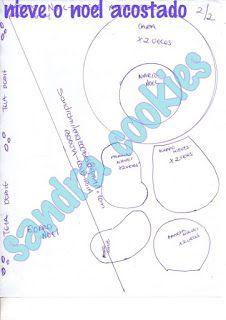 NOEL ACOSTADO Christmas Projects, Doll Patterns, Chart, Bb, Scrap, Google, Embellishments, Xmas, Scrappy Quilts
