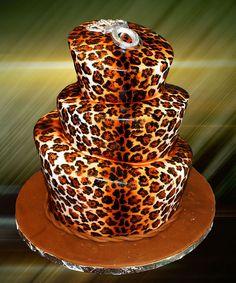 fabulous animal print cake