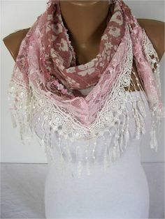 scarf women scarves  guipure   fashion scarf  gift by MebaDesign