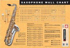 Alto Saxophone Keys Chart sax & horn items