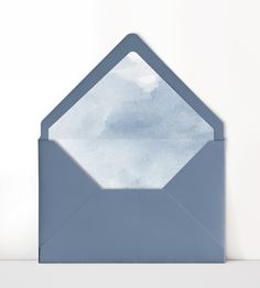 Dusty Blue Wedding Invitation Envelope with Watercolor Liner Photo Frame Wallpaper, Marble Iphone Wallpaper, Bubbles Wallpaper, Framed Wallpaper, Flower Background Wallpaper, Wedding Invitation Envelopes, Blue Wedding Invitations, Invites, Envelope Art