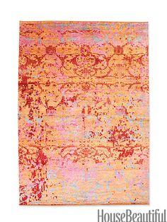 Hand-knotted silk, 6' x 9' in Florescent, $5,400. stephanieodegard.com.