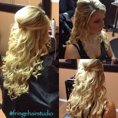 Wedding hair #weddinghair #hairbytiannaagostini #curls #wedding #blonde #longhair #fringehairstudionanaimo #modernsalon
