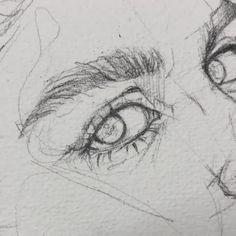 Sketch by Humid Peach. Humid Peach is the name of the artist whose real name is Ksenia Kondyleva. Continue Reading and for more sketch → View Website… Pencil Art Drawings, Art Drawings Sketches, Drawing Faces, Man Face Drawing, Pencil Sketches Of Faces, Eye Painting, Watercolor Paintings, Realistic Eye Drawing, How To Draw Realistic