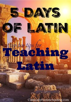 Teaching Latin isn't easy. It's harder when you don't know any more Latin than a few dinosaur names. Here are a few tips to help you teach Latin to your kids. via @classichomesch