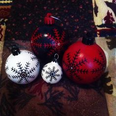 """So goth it hurts"" set. #ornaments #decor #christmas"