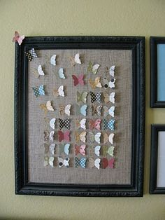 Butterflies on burlap