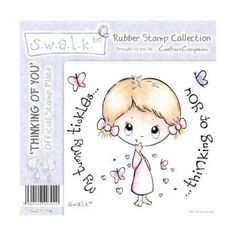 Crafters Companion S.w.a.l.k. Unmounted Rubber Stamp - Thinking of You.
