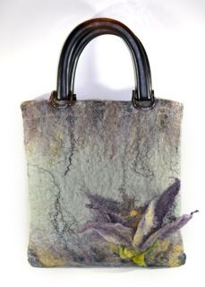 Hand Felted Art Purse by SoulFibre by Neauveau Fiber Art and Handspun Yarn Shop