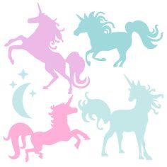 Miss Kate Cutables freebie of the day (3/26/15). Unicorn Silhouette Set SVG scrapbook title cat svg cut files kitten svg cut files free svgs free svg cuts. *