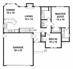 Floor Plan First Story-under 1000sq ft