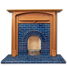 glazed tile fireplace - Google Search