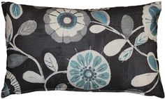 Bold light blue and rich white flowers contrast beautifully against the midnight blue background of this Shady Days Dark Throw Pillow. Floral Throw Pillows, Throw Pillow Sets, Lumbar Pillow, Decorative Throw Pillows, Outdoor Pillow Covers, Outdoor Throw Pillows, Cotton Pillow, Floor Pillows, Barrel
