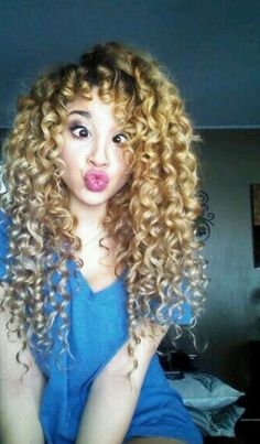 Cute Honey Blonde Curly Hair
