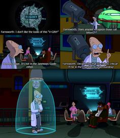 When Futurama makes a Star Trek reference, I giggle a little inside.