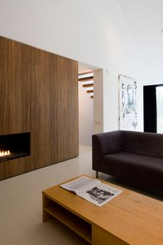 :: FIREPLACES :: A project by: Bruno Vanbesien Architect #fireplaces
