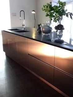 Boffi kitchen | Interior design trends for 2015 * See more Copper inspirations at http://www.brabbu.com/en/inspiration-and-ideas/ #CopperLighting #CopperDesign #CopperDecoration
