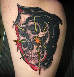 Reaper by Scott Garitson during his guest spot at Ink and Dagger in Roswell Ga.
