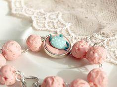 tea pot and sugar  bracelet ( polymer clay)