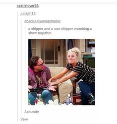 It's even funnier because that's from the episode when penny freaked over Sheldon and amy getting physical